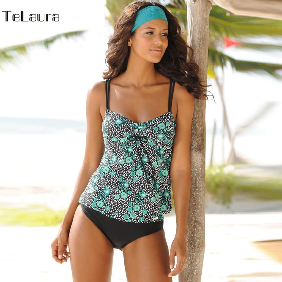 Women's Swimwear, Two Piece Vintage Bathing Suit, Print Biquini Retro Swimwear 4