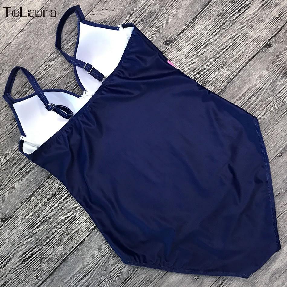 Vintage One Piece Swimsuit, 2019 Women's Push Up, Monokini Bodysuit, Retro Bathing Suit 14