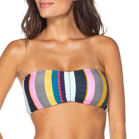 Bandeau Bikini, 2019 Striped, Strapless, Push Up Swimwear, Women's Tie Side Bathing Suit 2