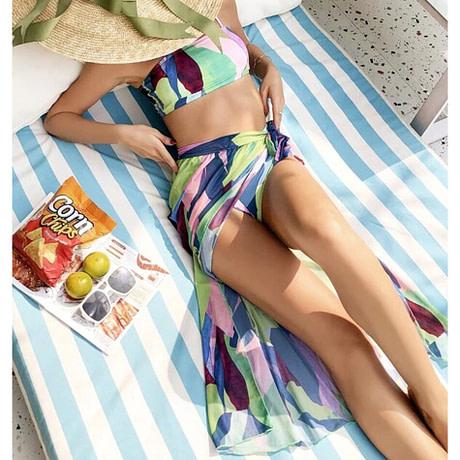 2021-New-3Pcs-WOmen-Bikini-Set-With-Beach-Dress-Abstract-Printed-Patchwork-Biquini-Swimwear-Push-Up-1.jpg