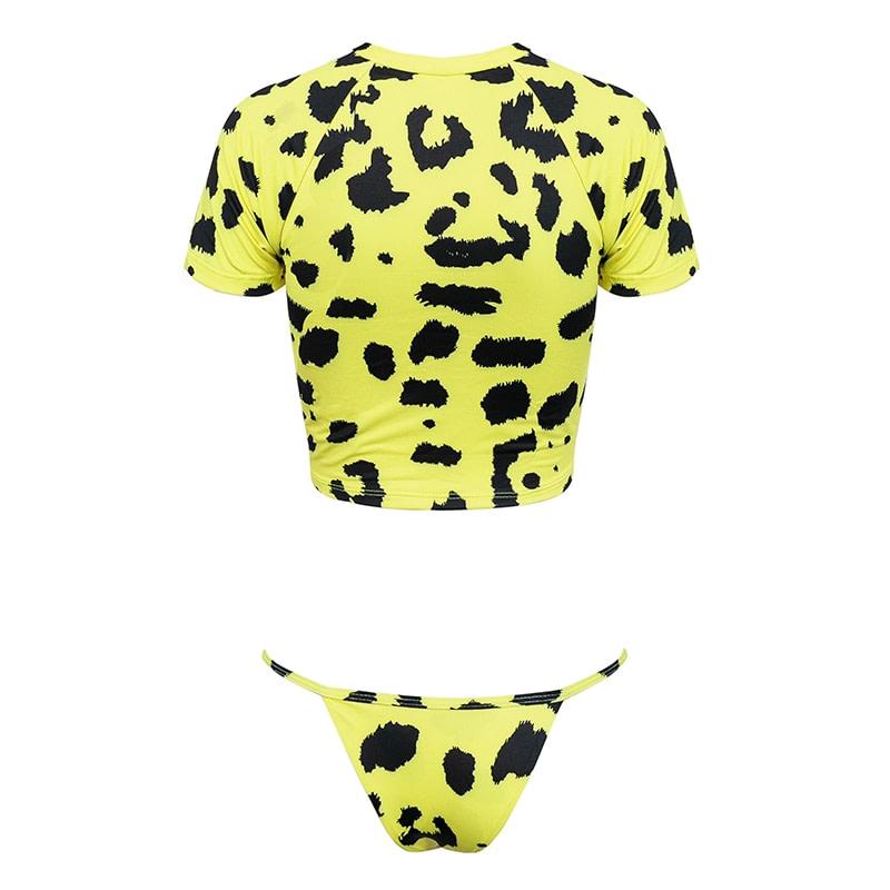 Women's Brazilian Thong Bikini, 2019 Women's T-Shirt Swimsuit, Push up, Two-Piece Suit 36