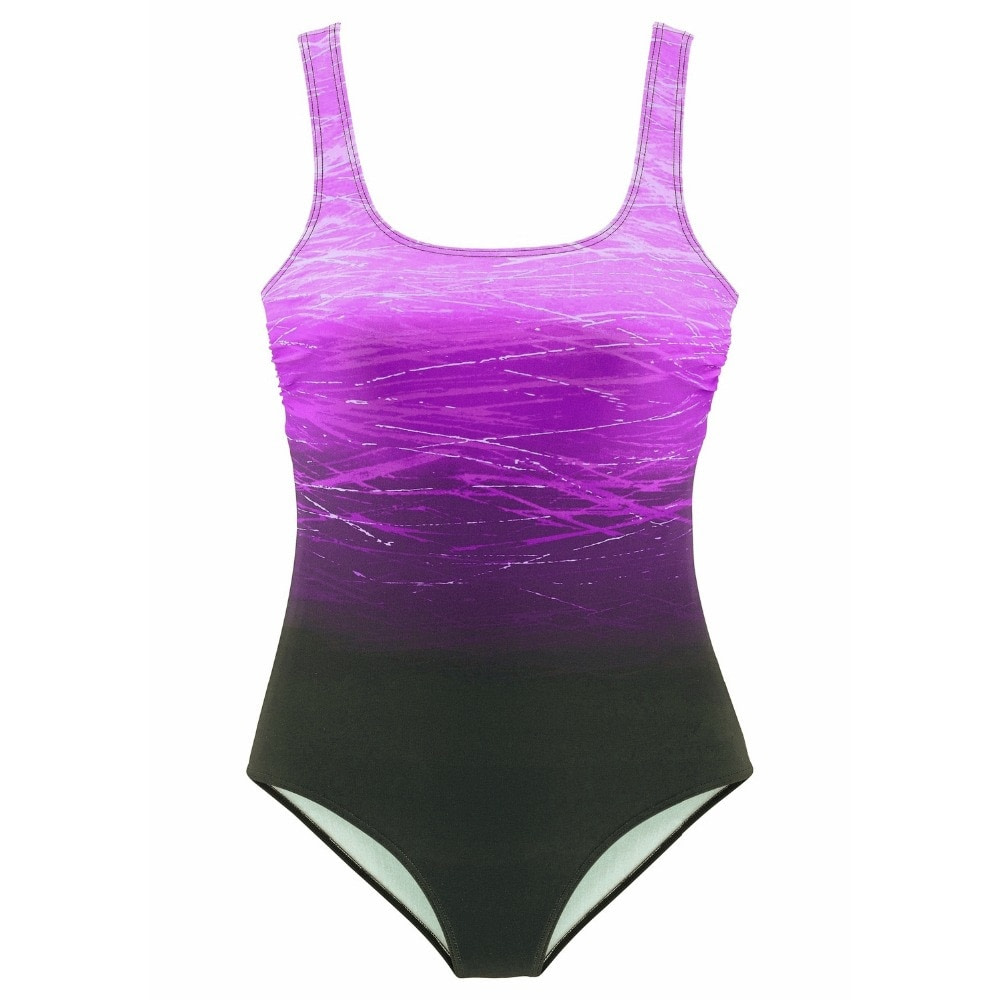 One Piece Swimsuit, Women's Bandage Vintage Beach Wear, Solid Bathing Suit, Monokini Retro Swimsuit 19
