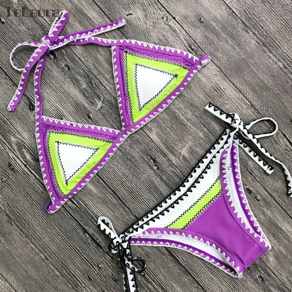 Sexy Bikinis, Women's Swimwear Push Up Swimsuit, Halter Top, Biquini Padded Bathing Suit, Brazilian Bikini Set 22