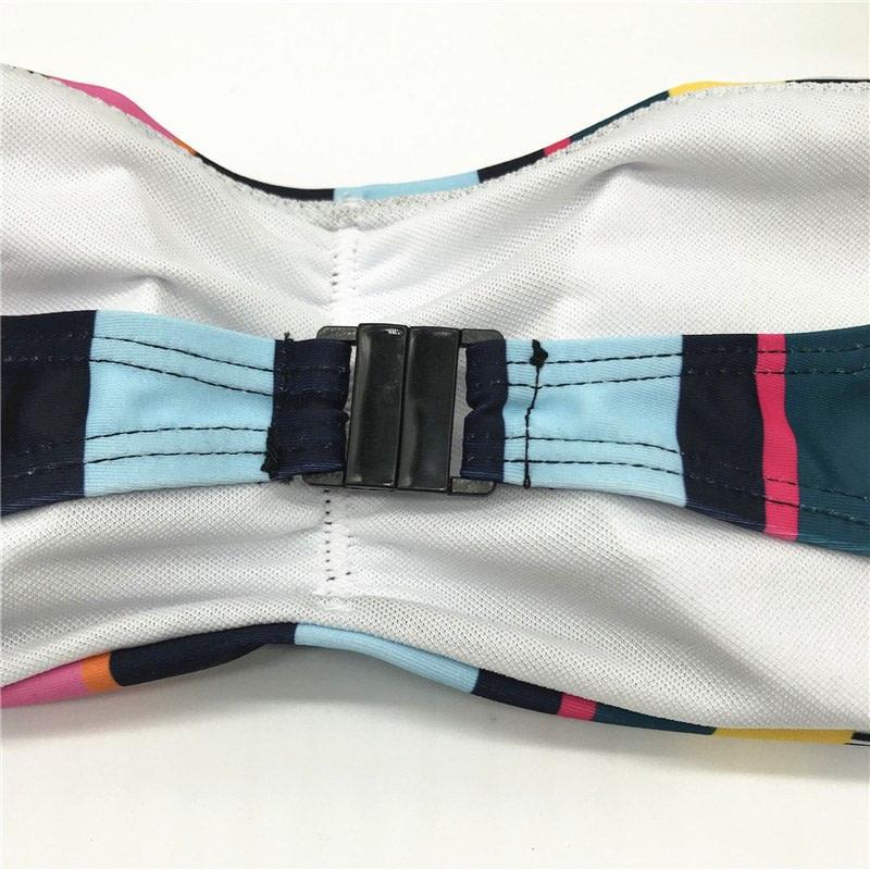 Bandeau Bikini, 2019 Striped, Strapless, Push Up Swimwear, Women's Tie Side Bathing Suit 25