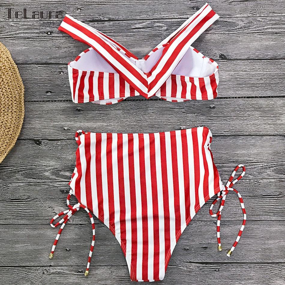Sexy High Waist Bikini, 2019 Women's Swimsuit, Bandeau Bikinis Set, Biquini Swimming Suit 17