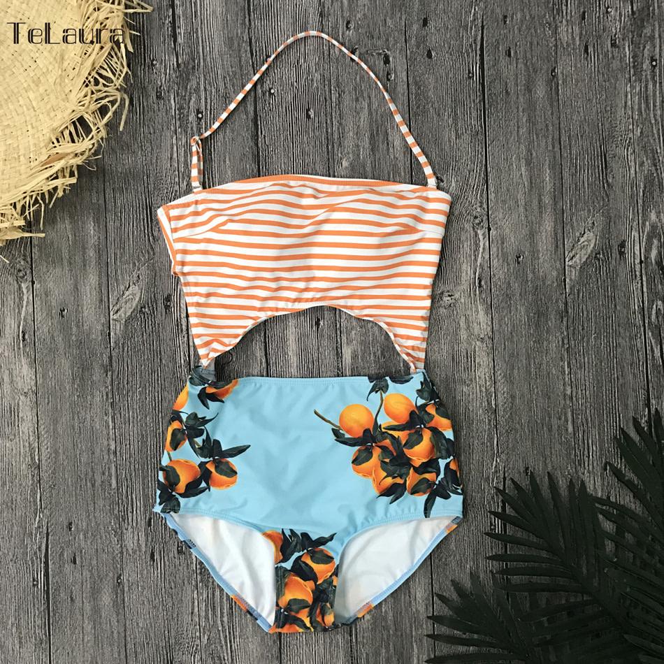 2019 One Piece Swimsuit, Women's Monokini Halter Bodysuit, Bandage Swimsuit, Hollow Out High Waist Bathing Suit 27