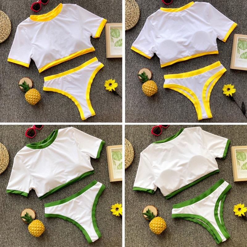 Women's Brazilian Thong Bikini, 2019 Women's T-Shirt Swimsuit, Push up, Two-Piece Suit 33