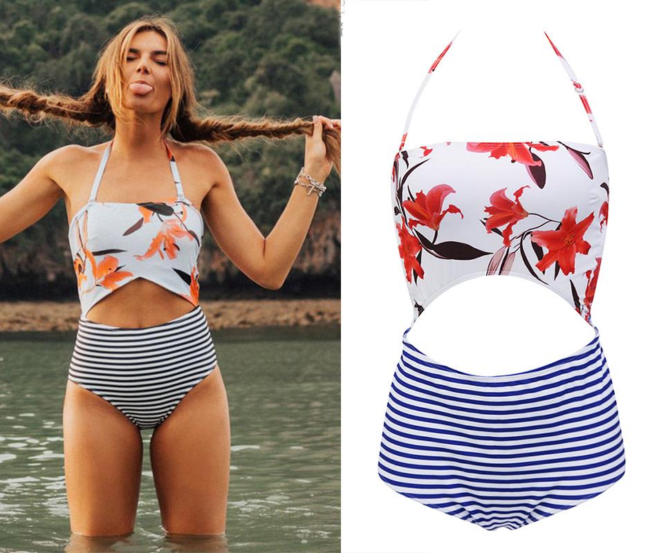 2019 One Piece Swimsuit, Women's Monokini Halter Bodysuit, Bandage Swimsuit, Hollow Out High Waist Bathing Suit 19