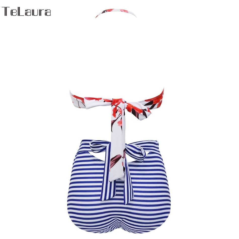 2019 One Piece Swimsuit, Women's Monokini Halter Bodysuit, Bandage Swimsuit, Hollow Out High Waist Bathing Suit 26