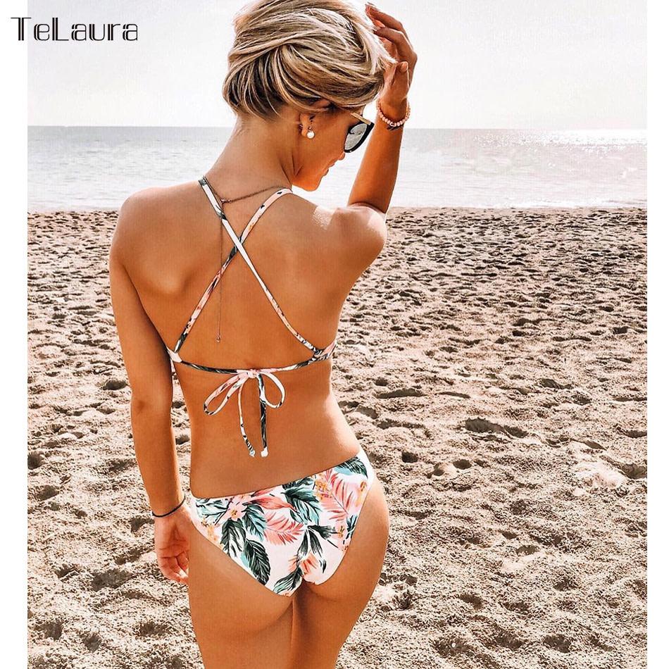 Sexy Ruffle One Piece Swimsuit, Women's Swimwear, Monokini Bodysuit Print Swim Suit, Backless Bathing Suit Beach Wear 48