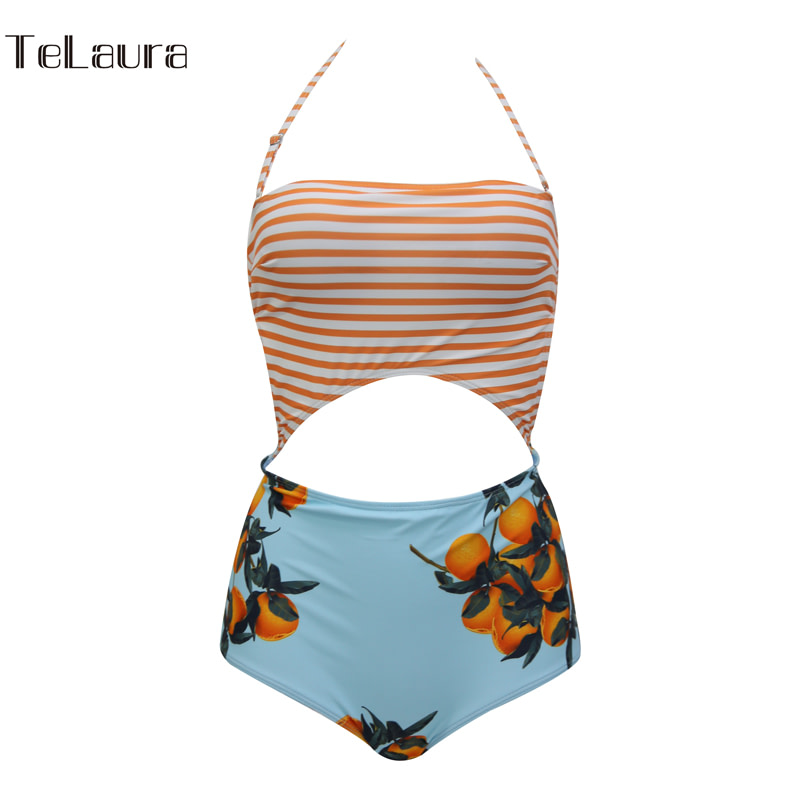 2019 One Piece Swimsuit, Women's Monokini Halter Bodysuit, Bandage Swimsuit, Hollow Out High Waist Bathing Suit 22