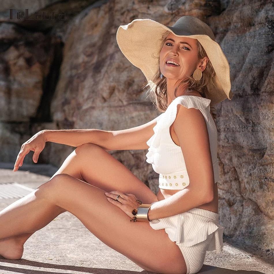2019 New High Waist Bikini, Women's 2 Piece Bathing Suit, Biquini Ruffle Bikini Summer Beach Wear 8
