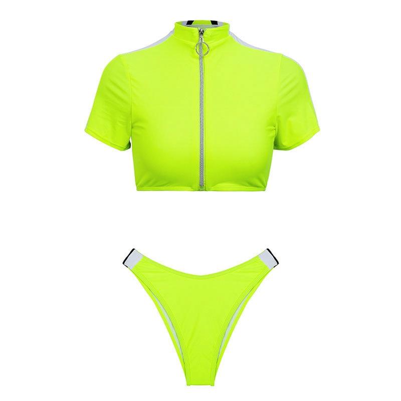 Women's Brazilian Thong Bikini, 2019 Women's T-Shirt Swimsuit, Push up, Two-Piece Suit 40