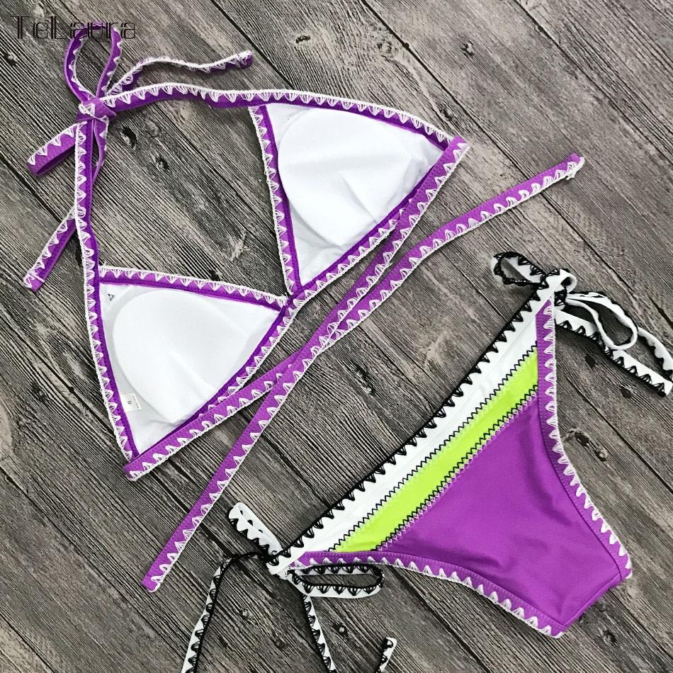 Sexy Bikinis, Women's Swimwear Push Up Swimsuit, Halter Top, Biquini Padded Bathing Suit, Brazilian Bikini Set 23