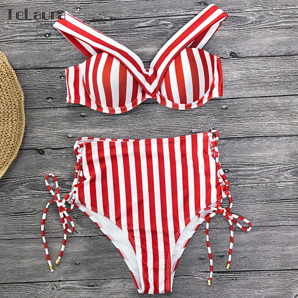 Sexy High Waist Bikini, 2019 Women's Swimsuit, Bandeau Bikinis Set, Biquini Swimming Suit 16