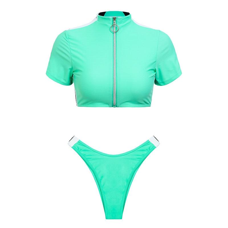 Women's Brazilian Thong Bikini, 2019 Women's T-Shirt Swimsuit, Push up, Two-Piece Suit 43