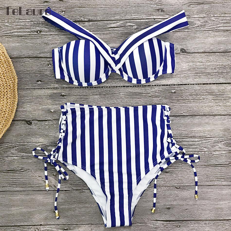 Sexy High Waist Bikini, 2019 Women's Swimsuit, Bandeau Bikinis Set, Biquini Swimming Suit 18