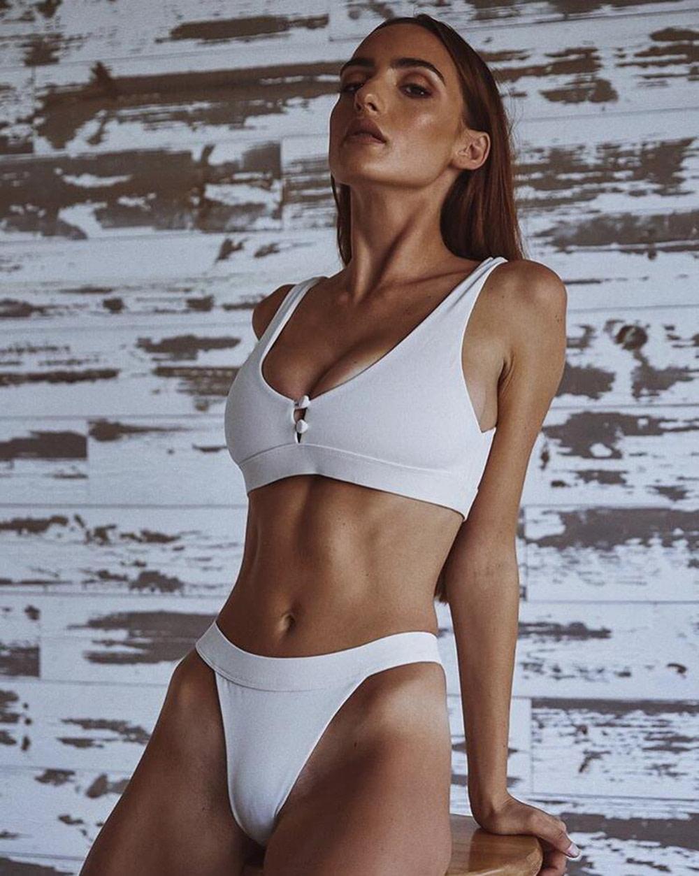 Sexy Bikinis, Solid Push Up Bikini, 2019, Padded Bra Button, Low Waist Thong Swimsuit 23