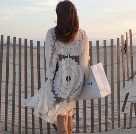 Tunic Crochet Beach Cover Back