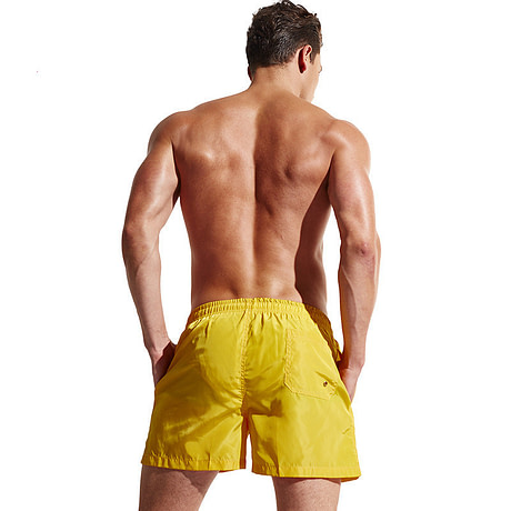Men's Swimsuits Boxers Back View