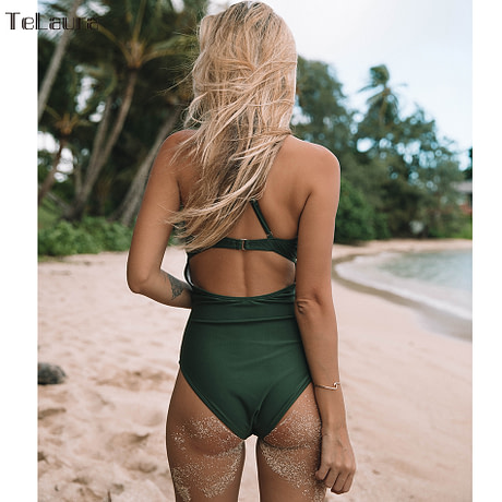 2019 Sexy Lace One Piece Swimsuit, Women's Monokini Bandage Bodysuit Beach Wear Bathing Suit 2