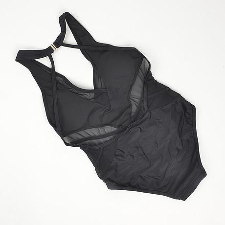 One Piece Transparent Lace Swimsuit,  Sexy Black Backless, Mesh Bandage, Large Bust Swimwear, Brazilian Bathing Suit 4