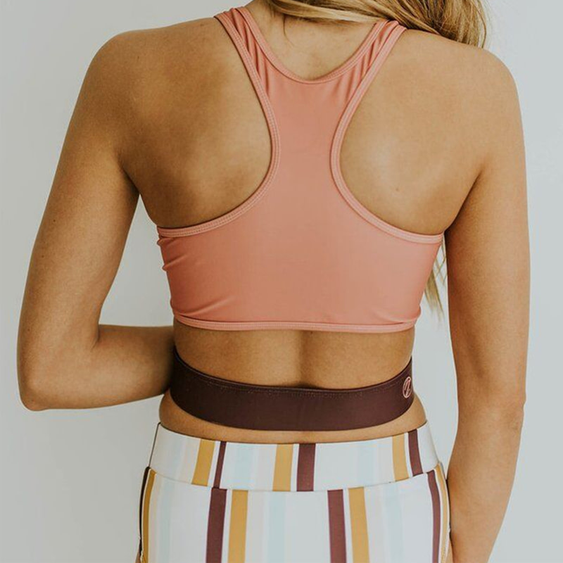 2019 High Neck 2 Piece Crop Top, Women's Striped Bathing Suit 24