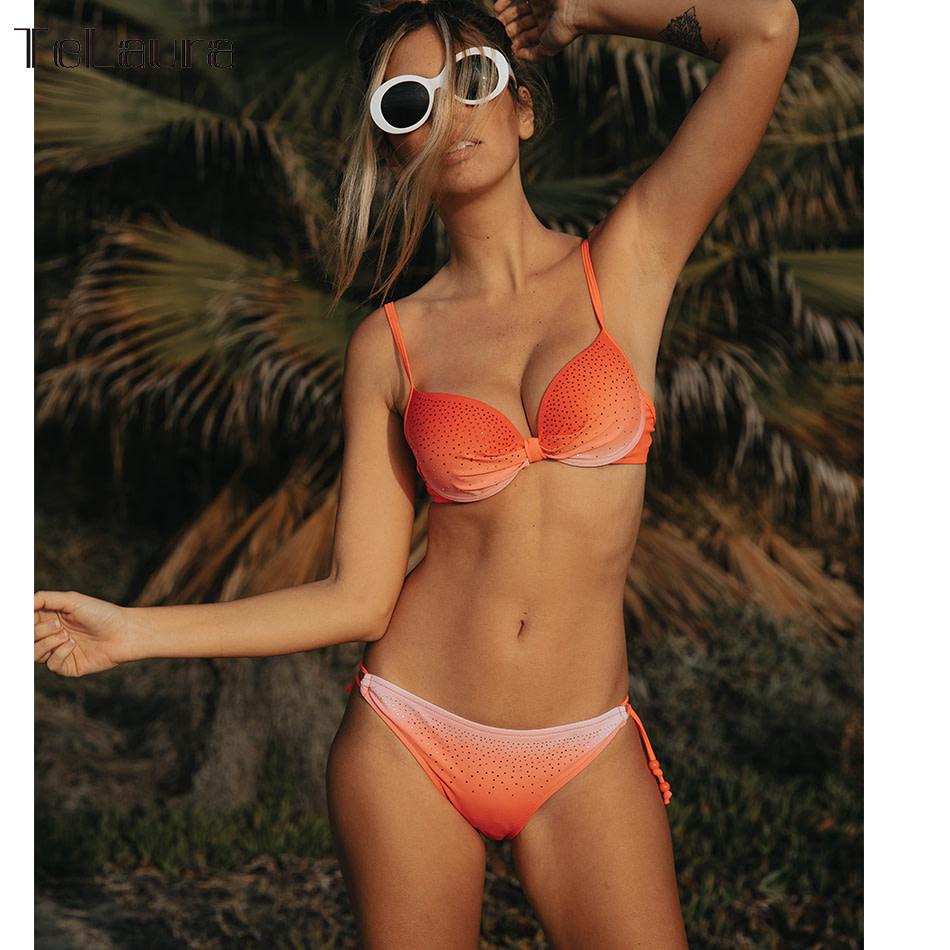 2019 Sexy Bikini Swimwear, Women's Swimsuit Push Up, Gradient Bikinis, Biquini Swimsuit 4
