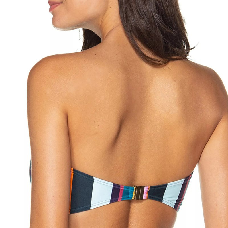Bandeau Bikini, 2019 Striped, Strapless, Push Up Swimwear, Women's Tie Side Bathing Suit 18