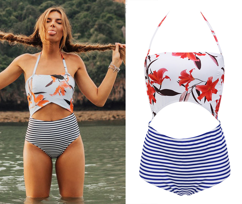 2019 One Piece Swimsuit, Women's Monokini Halter Bodysuit, Bandage Swimsuit, Hollow Out High Waist Bathing Suit 19