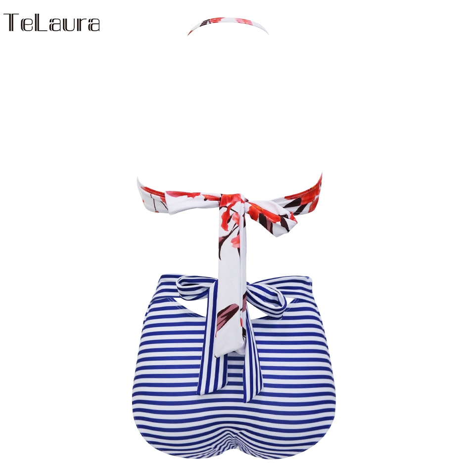 2019 One Piece Swimsuit, Women's Monokini Halter Bodysuit, Bandage Swimsuit, Hollow Out High Waist Bathing Suit 26