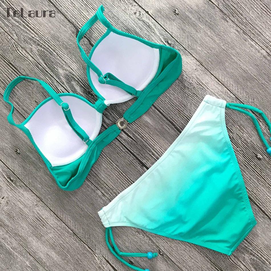 2019 Sexy Bikini Swimwear, Women's Swimsuit Push Up, Gradient Bikinis, Biquini Swimsuit 16