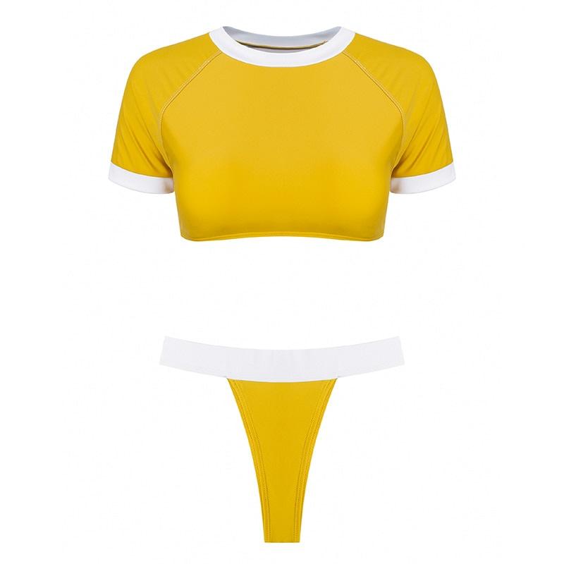 Women's Brazilian Thong Bikini, 2019 Women's T-Shirt Swimsuit, Push up, Two-Piece Suit 46