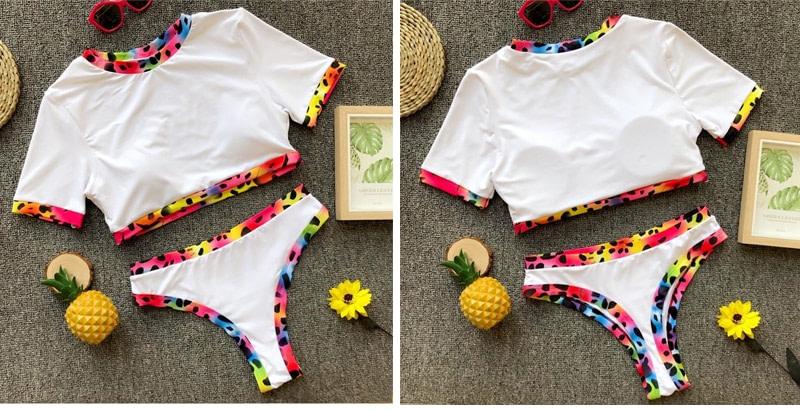 Women's Brazilian Thong Bikini, 2019 Women's T-Shirt Swimsuit, Push up, Two-Piece Suit 34