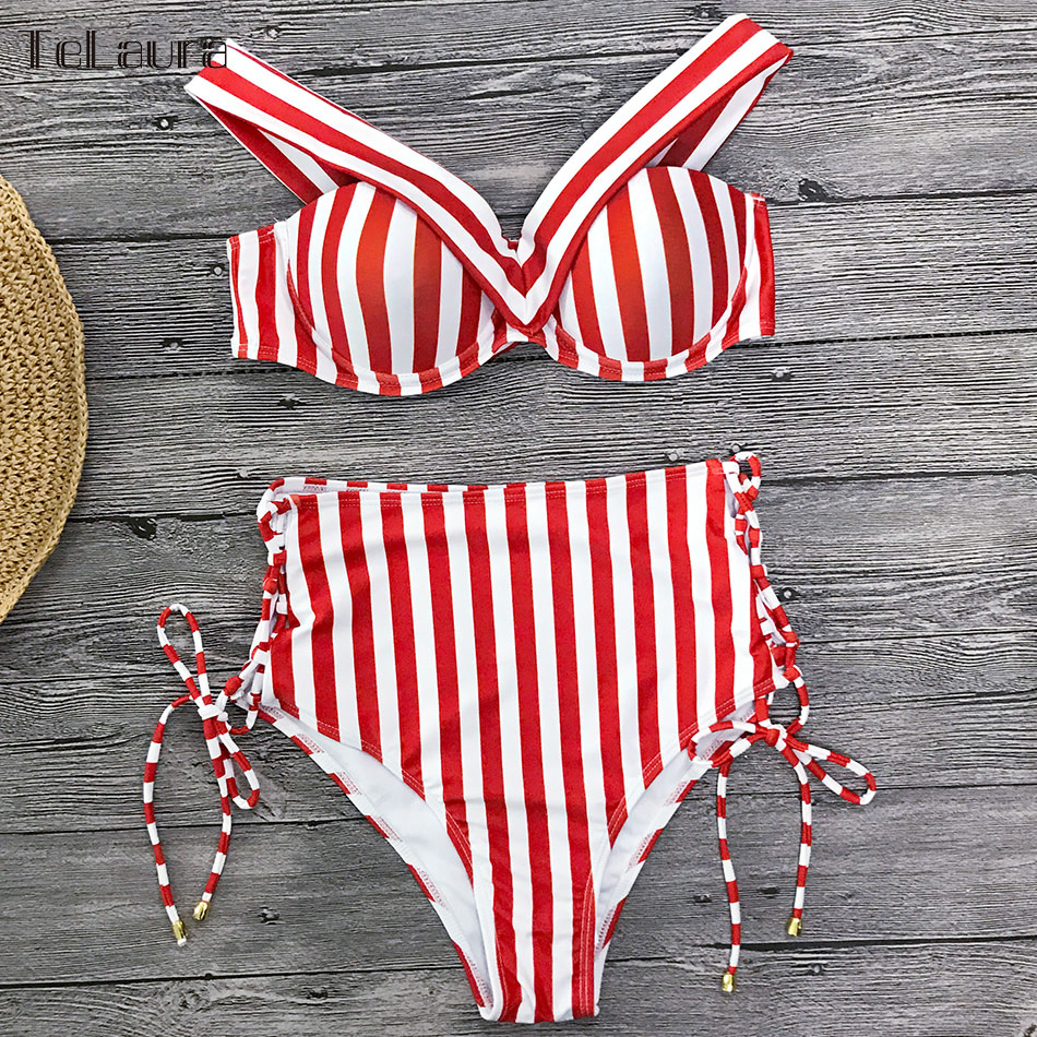 Sexy High Waist Bikini, 2019 Women's Swimsuit, Bandeau Bikinis Set, Biquini Swimming Suit 16