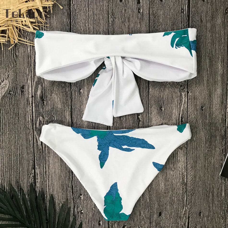 Sexy High Waist Bikini, Women's Swimsuit Bandeau Bikinis Set, Biquini Beachwear 15
