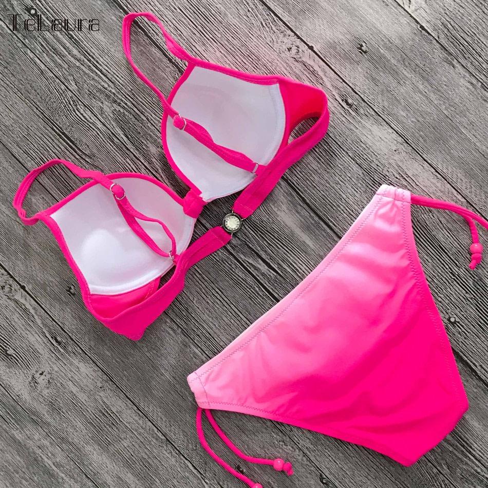 2019 Sexy Bikini Swimwear, Women's Swimsuit Push Up, Gradient Bikinis, Biquini Swimsuit 18