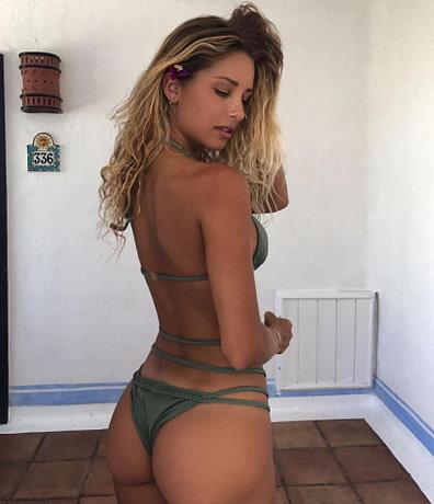 Brazilian Bikini Strapless Halter Back View