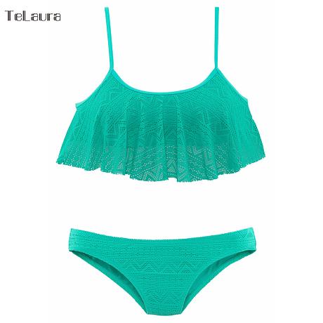 Sexy Ruffle Bikini, Women's Swimsuit, Push Up Swimwear, Lace Brazilian Bikini Set, Beachwear Mesh Bathing Suit 5