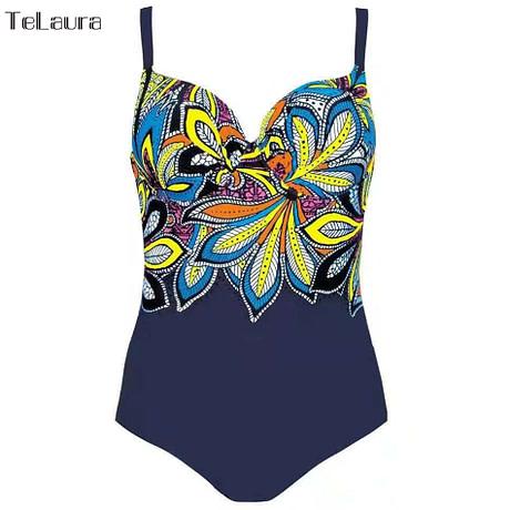 Vintage One Piece Swimsuit, 2019 Women's Push Up, Monokini Bodysuit, Retro Bathing Suit 5