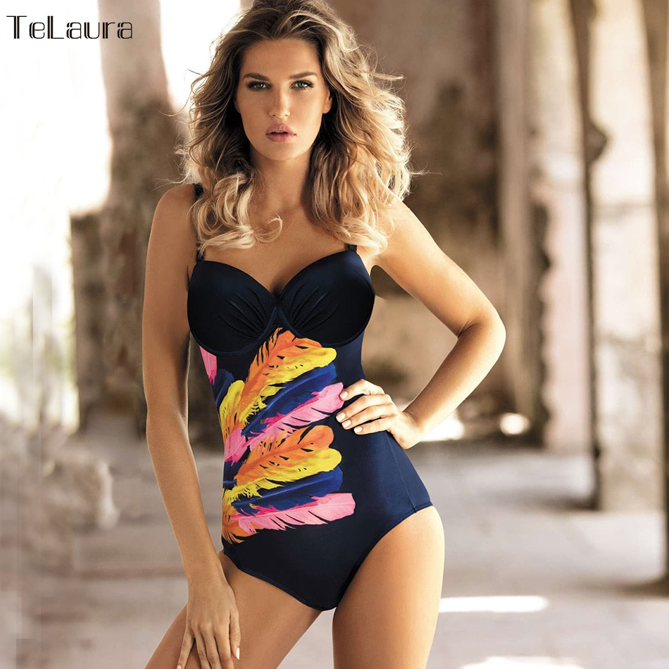 Vintage One Piece Swimsuit, 2019 Women's Push Up, Monokini Bodysuit, Retro Bathing Suit 7