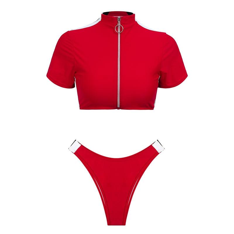 Women's Brazilian Thong Bikini, 2019 Women's T-Shirt Swimsuit, Push up, Two-Piece Suit 42