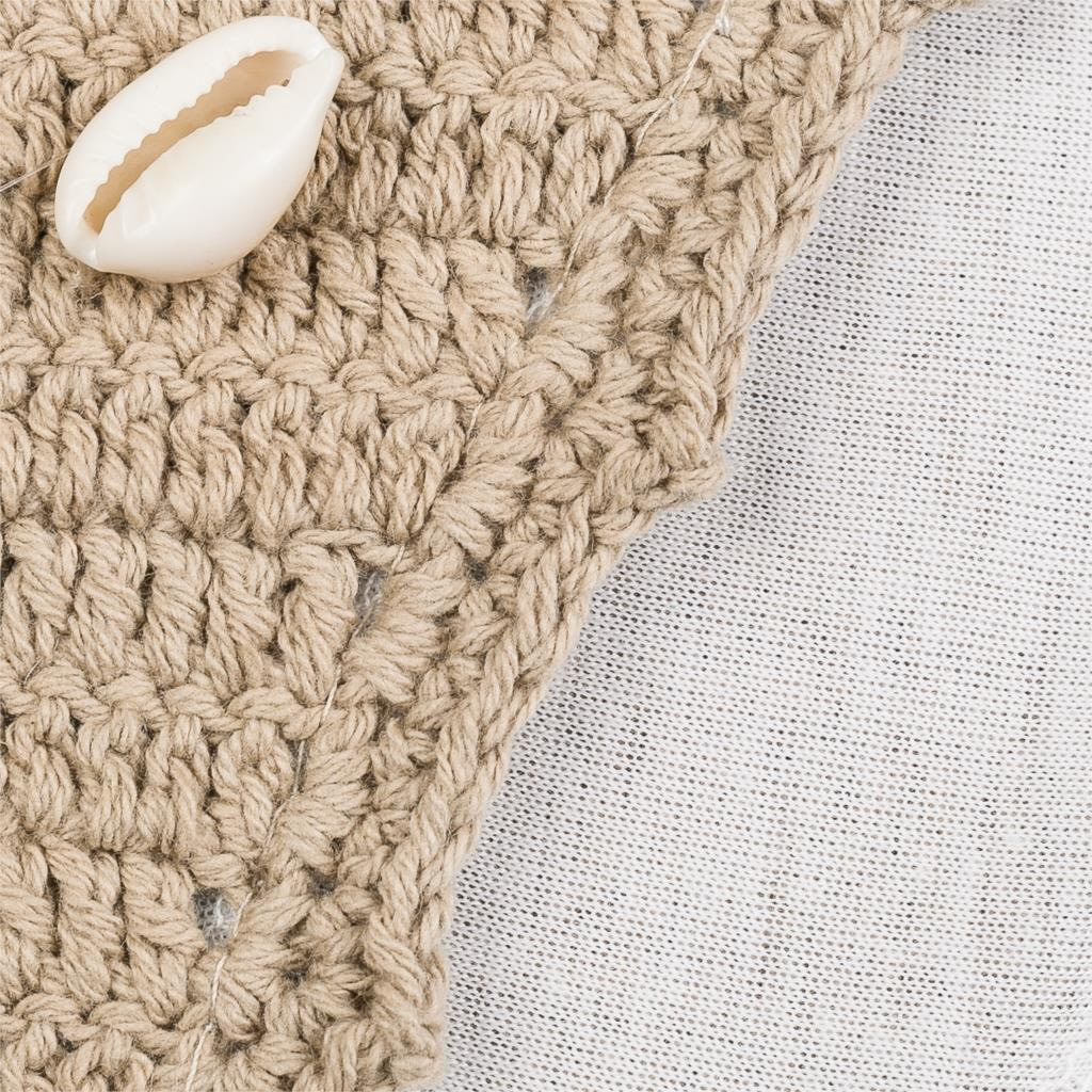 Handmade Crochet Bikinis, 2019 Sexy Tassel Swimsuit,Women's Shell Decorated Swimwear, High Neck 2 Piece Suit 25