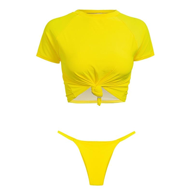 Women's Brazilian Thong Bikini, 2019 Women's T-Shirt Swimsuit, Push up, Two-Piece Suit 37