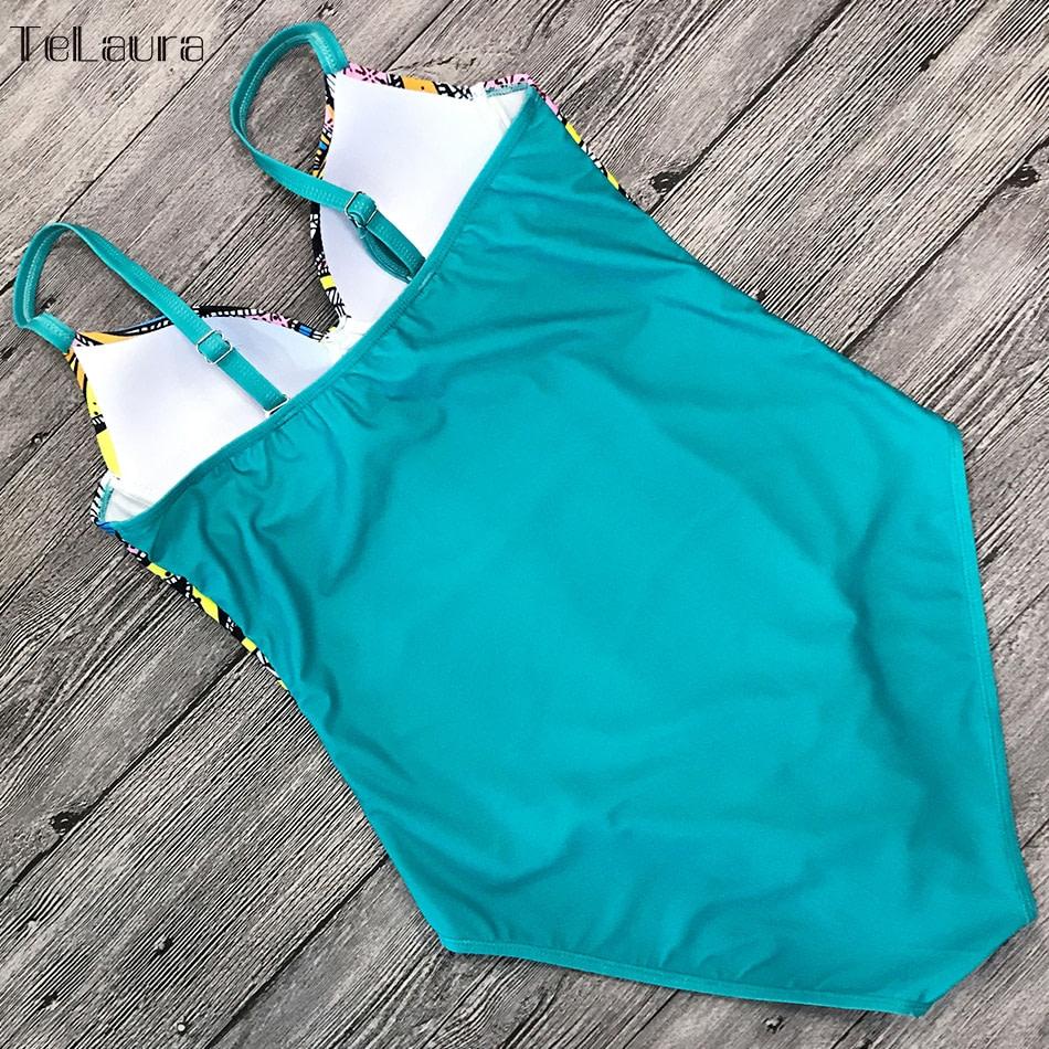 Vintage One Piece Swimsuit, 2019 Women's Push Up, Monokini Bodysuit, Retro Bathing Suit 12